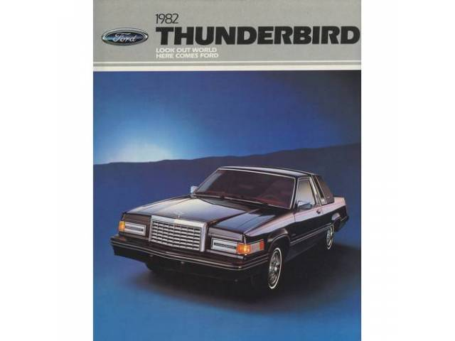 1982 FORD THUNDERBIRD SALES BROCHURE