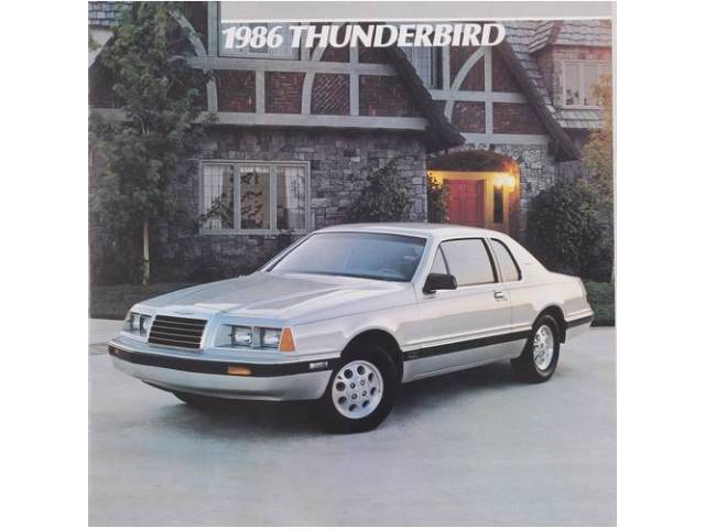 1986 FORD THUNDERBIRD SALES BROCHURE