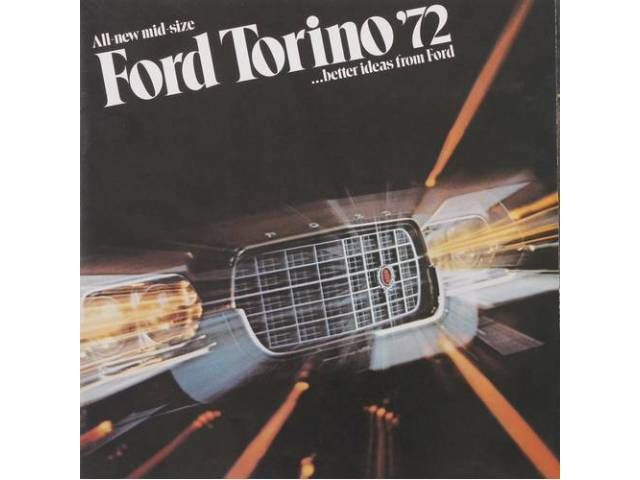 Original Ford Sales Brochure 1972 Ford Torino 18