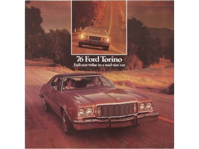 Original Ford Sales Brochure 1976 Ford Torino 8