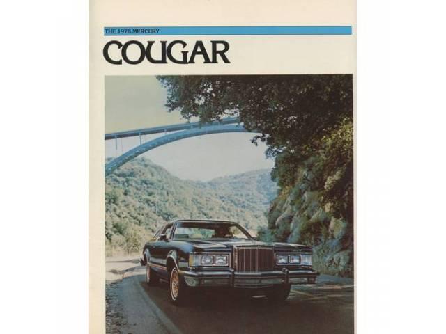 1978 MERCURY COUGAR SALES BROCHURE