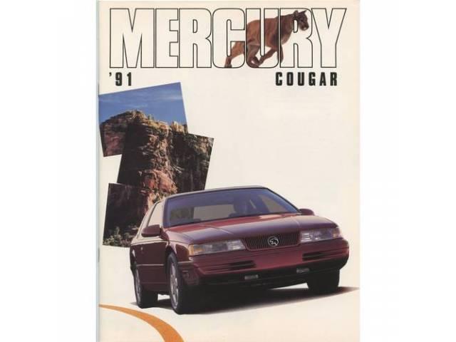 Original Ford Sales Brochure 1991 Cougar 24 pages