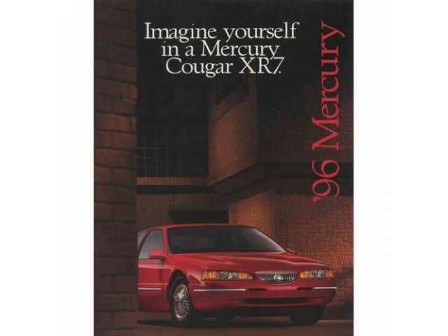 Original Ford Sales Brochure 1996 Mercury Cougar 12