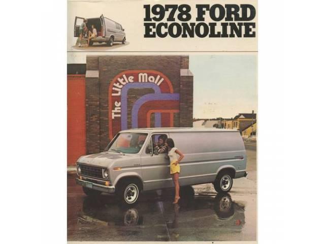 Original Ford Sales Brochure 1978 Ford Econoline 12