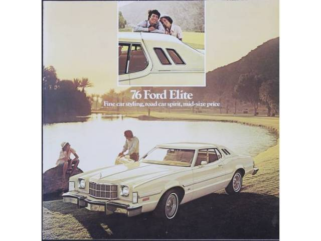 Original Ford Sales Brochure 1976 Ford Elite 6