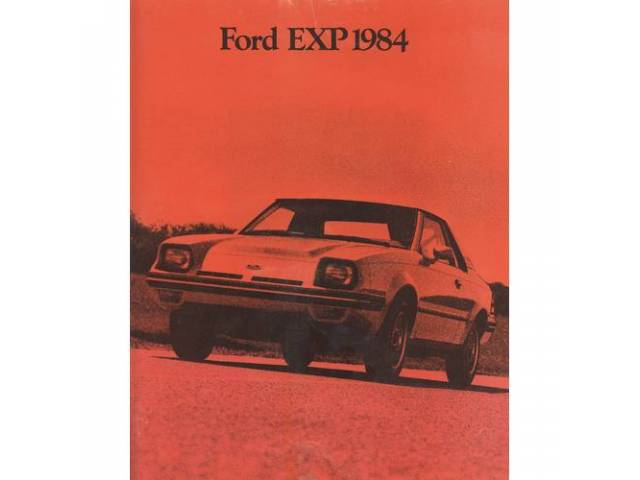 Original Ford Sales Brochure 1984 Ford EXP 12