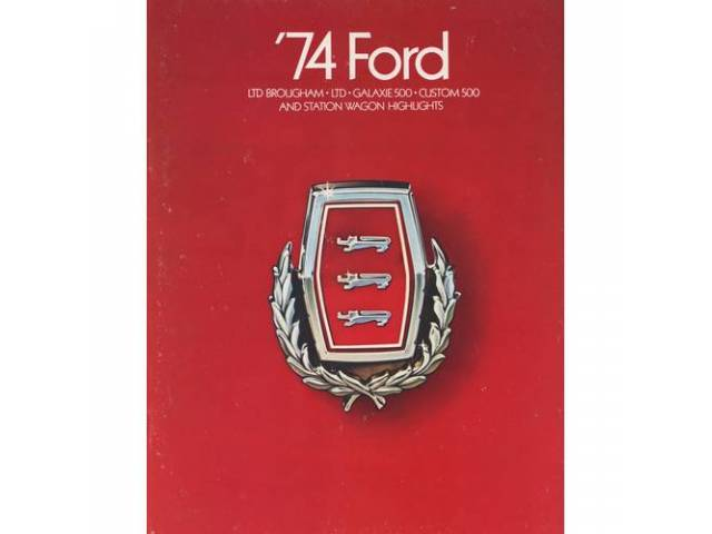 Book Sales Brochure Original Ford 24 Pages Nos
