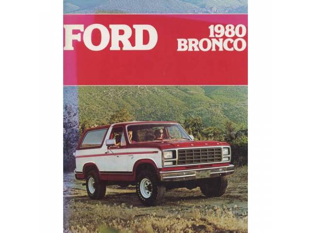 1980 FORD BRONCO SALES BROCHURE
