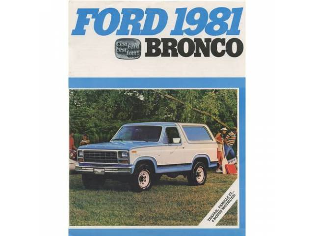 1981 FORD BRONCO SALES BROCHURE