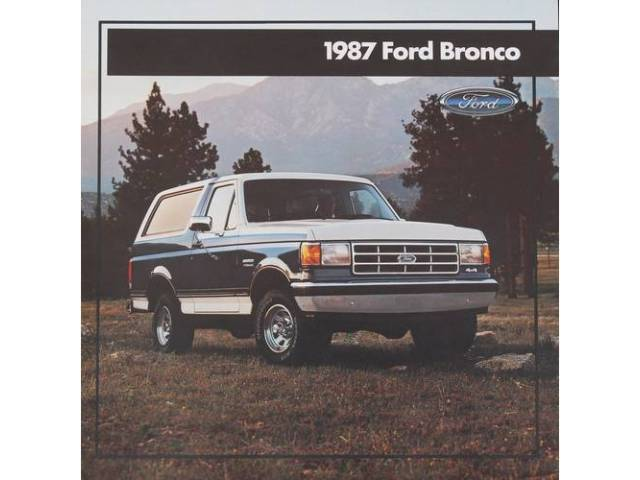 1987 FORD BRONCO SALES BROCHURE