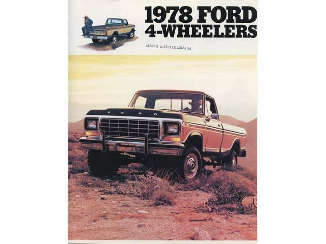 Original Ford Sales Brochure 1978 F-Series 4X4 Truck