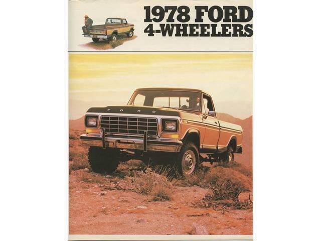 Book Sales Brochure Original Ford 8 Pages Nos