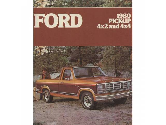 1980 FORD F-SERIES TRUCK SALES BROCHURE