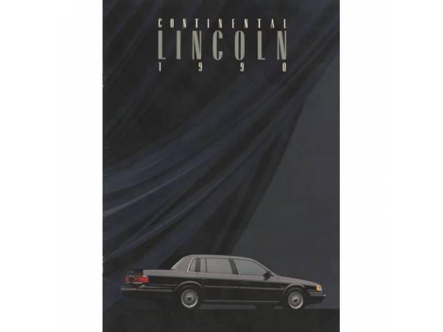 1990 LINCOLN CONTINENTAL SALES BROCHURE