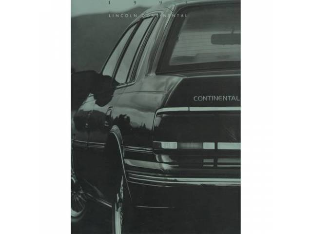 1993 LINCOLN CONTINENTAL SALES BROCHURE