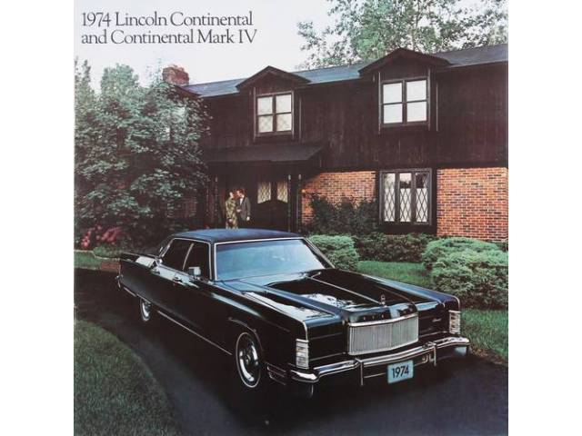 1974 LINCOLN CONTINENTAL MARK 4 SALES BROCHURE