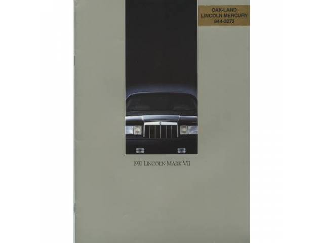 1991 LINCOLN MARK 7 SALES BROCHURE