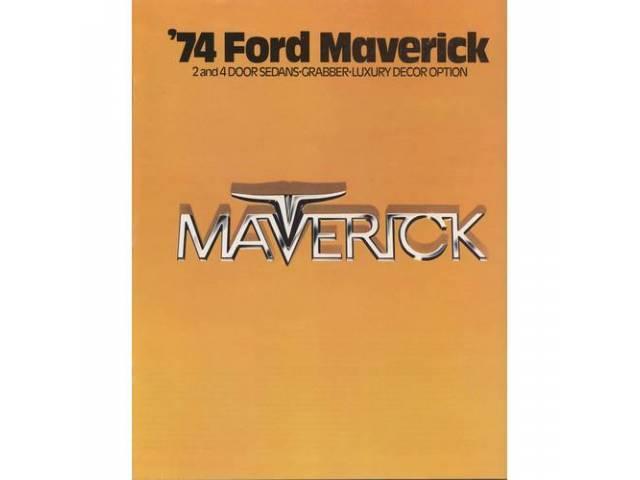 Original Ford Sales Brochure 1974 Ford Maverick 12