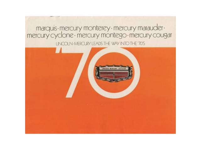 1970 MERCURY FULL LINE SALES BROCHURE