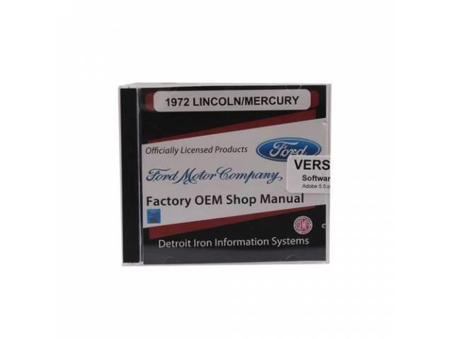 SHOP MANUAL ON CD 1972 PASSENGER CAR includes