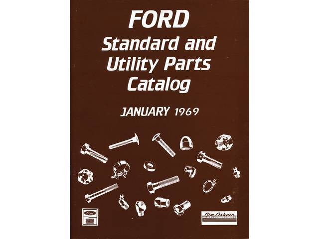 BOOK, FORD STANDARD PARTS CATALOG, 1969