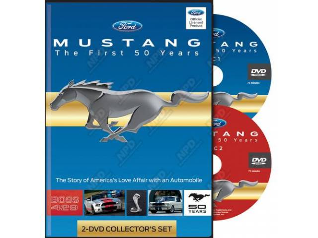 DVD MUSTANG the First Fifty Years 2 DVD