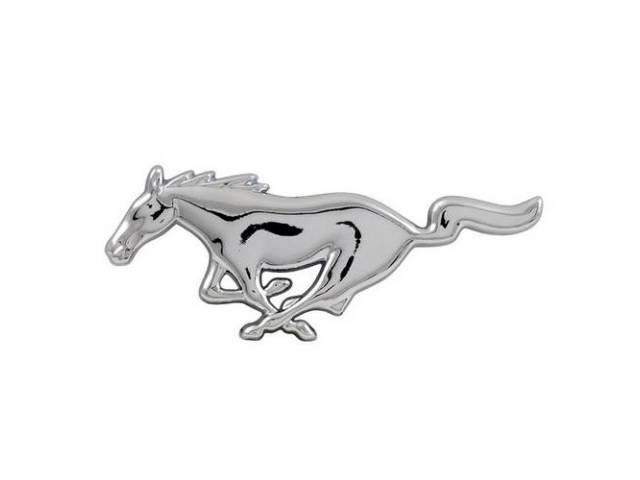 Emblem Running Horse Custom Style Chrome Peel And