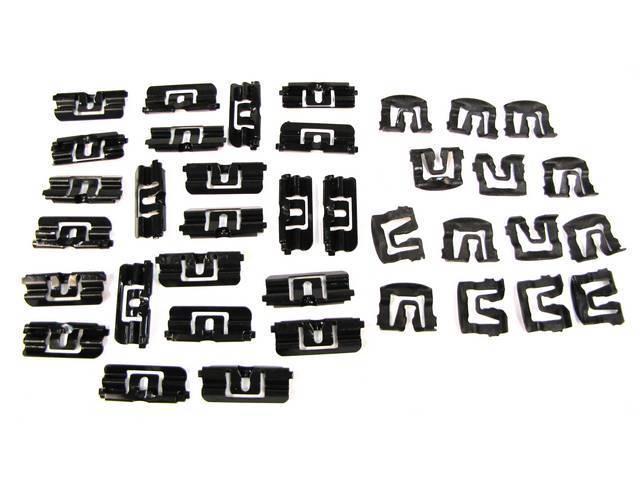 Complete Front and Rear Window Molding Mounting Kit for Hatchback Models