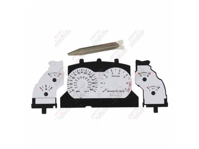 White Face Gauge Kit Standard Kit Incl Overlay