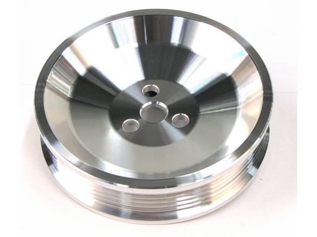 Fan, Alternator, March Performance, Billet Aluminum, Clear Powdercoated,