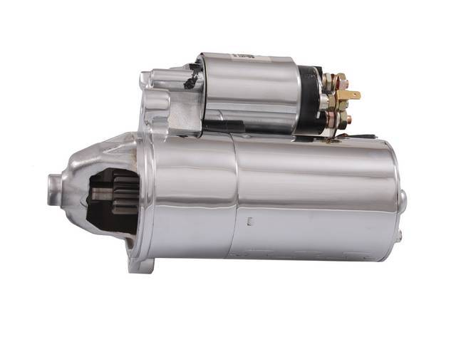 Starter, New, Tuff Stuff, Pmgr Style, Chrome Finish, 3 Bolt Mounting, 3.75 To 1 Planetary Gear Reduction W/ 40 Percent More Torque Increase, Weighs Only 10 Lbs