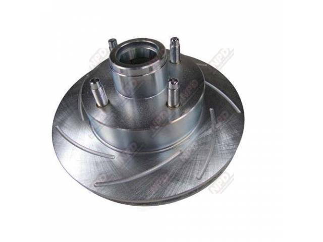 ROTOR, FRONT, GAS SLOTTED, PLATED, LH, GAS SLOTTED