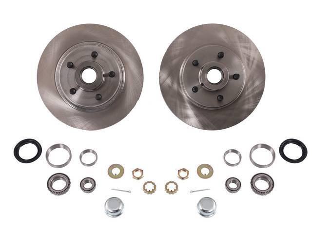 Rotor And Bearing Kit, 5 Lug Conversion, Street Bandit, Incl (2) 5 Lug Front Rotors, (2) Inner Bearings, (2) Outer Bearings, (2) Inner Race, (2) Outer Race, (2) Seals, (2) Grease Caps, And (2) Spindle Retainer Kits