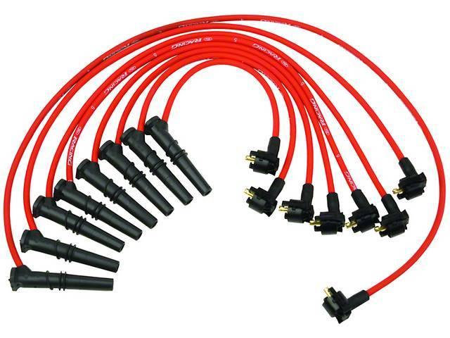 Wire Set, Spark Plug, Red, Ford Racing, These