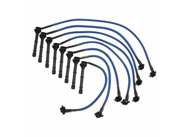 Wire Set Spark Plug Blue Live Wires Performance