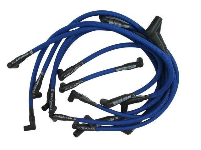 Wire Set, Spark Plug, Blue, Live Wires, Performance