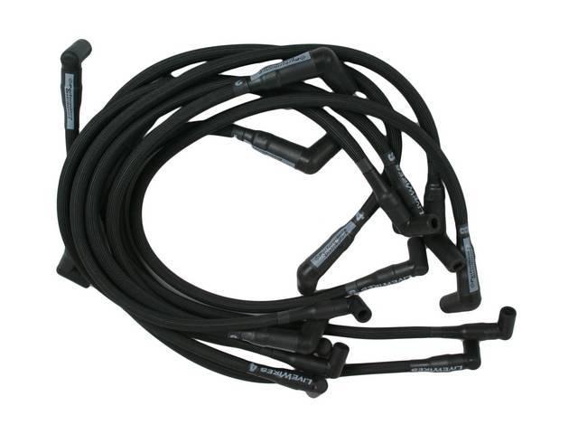 Wire Set, Spark Plug, Black, Live Wires, Performance