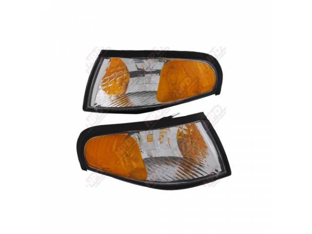 Light Assy Parking Chrome Diamond Style Pair Incl