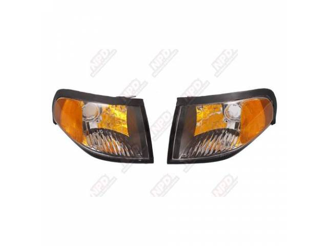 Light Assy Parking Black Diamond Style Pair Incl