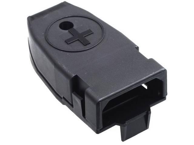 Cap, Battery Terminal, Positive, Red, Features Correct Positive