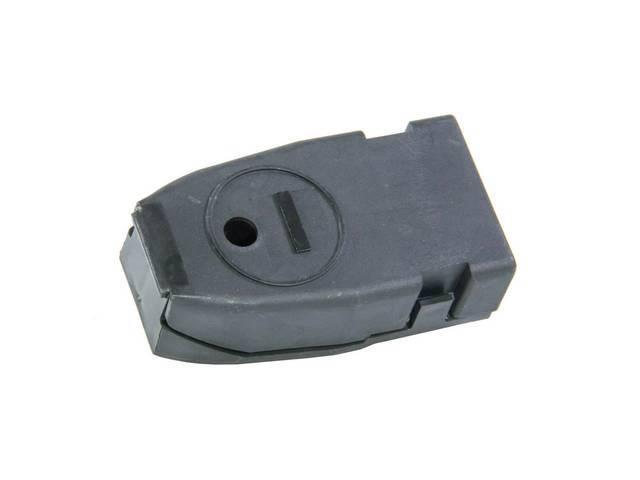 Cap, Battery Terminal, Negative, Black, Features Correct Negative