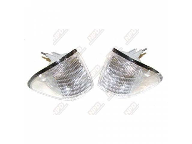 Light Assy Front Marker Clear Pair Repro