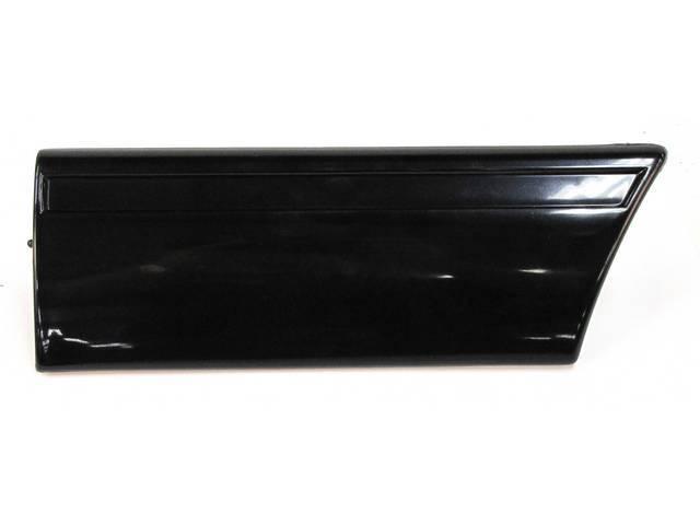 Molding, Fender, Front, Black / Ebony, Original Ford
