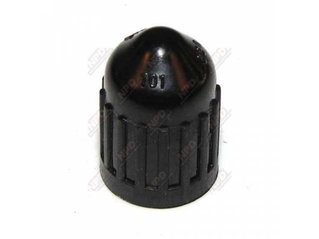 CAP TIRE VALVE DILL 630 BLACK PLASTIC CONCOURS