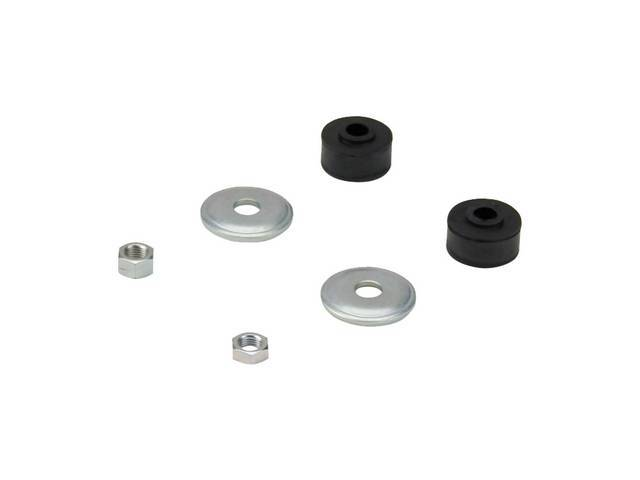 Mounting Kit, Rear Shock Absorber, Incl (2) Shock Nuts, (2) Washers, (2) Bushings, Designed To Mount One Shock Or One Side, See Note Below For Proper Fitment