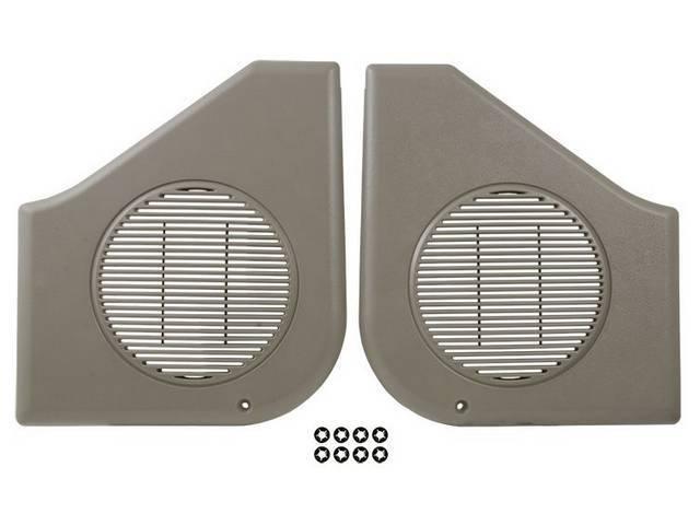 Grille Assy, Radio Speaker, Titanium Gray Plastic, Pair,