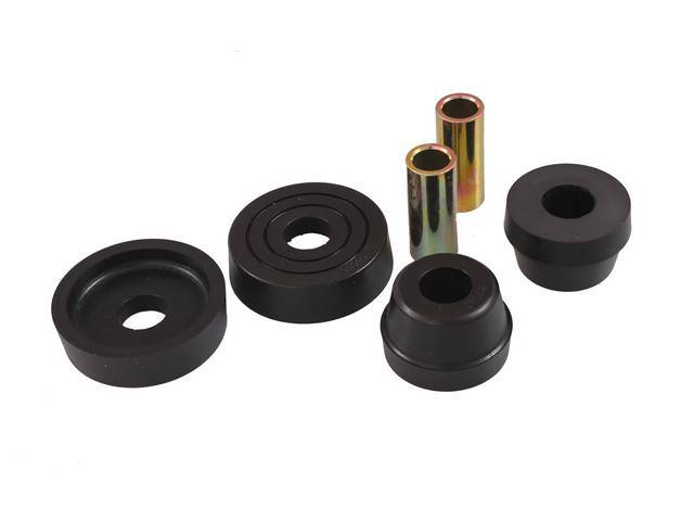 BUSHING KIT, UPPER STRUT MOUNT, POLYURETHANE, PROTHANE, BLACK,