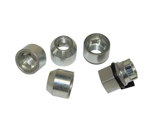 Lug Nut Kit, Anti-Theft Locking, 1/2 Inch-20 13/16 Inch Hex, Open, Zinc Plated