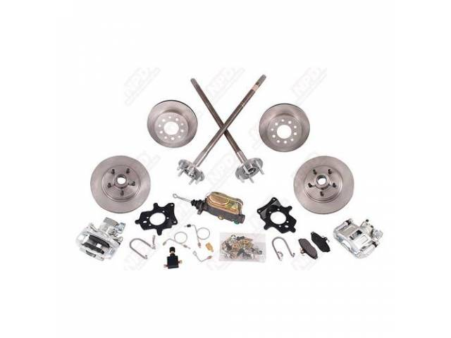 DISC CONVERSION KIT FRONT AND REAR 5 LUG