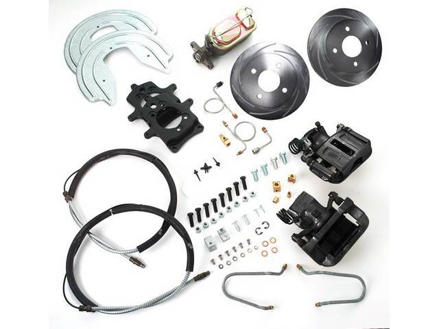 SSBC USA Rear Disc Brake Conversion Kit 87-92 (Upgrade Rotors/Black Calipers)